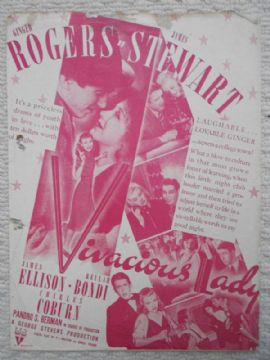 Vivacious Lady, Flyer/Herald, Ginger Rogers, James Stewart, '38